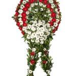 Kırmızı-Beyaz Cenaze Çelengi